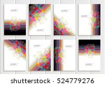stock vector set brochures in... | Shutterstock .eps vector #524779276