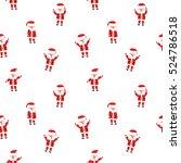 seamless christmas patterns....   Shutterstock .eps vector #524786518