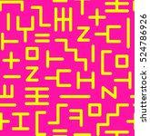 abstract random geometric... | Shutterstock .eps vector #524786926