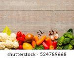 healthy food and copy space ... | Shutterstock . vector #524789668