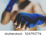 Boxer Showing His Fists