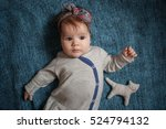 5 months old lovely stylish... | Shutterstock . vector #524794132
