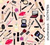 makeup  perfume  cosmetics...   Shutterstock .eps vector #524794786