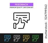 vector feedback icon.... | Shutterstock .eps vector #524799562