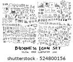 business arrow bubble set ... | Shutterstock .eps vector #524800156