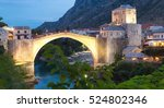 town of mostar in the evening ...   Shutterstock . vector #524802346