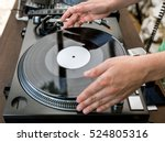 dj playing and mixes track on... | Shutterstock . vector #524805316
