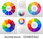 vector circle infographic set.... | Shutterstock .eps vector #524805562