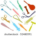 set of a medical tools | Shutterstock .eps vector #52480591