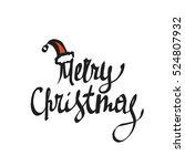 vector christmas card. merry... | Shutterstock .eps vector #524807932