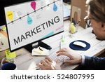 online marketing business... | Shutterstock . vector #524807995
