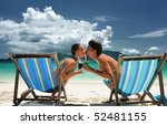 couple on a tropical beach in... | Shutterstock . vector #52481155