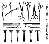 Set Of Barber Accessories For...