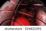 red metallic basketball. 3d...   Shutterstock . vector #524822392