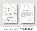 avant garde fashion. geometric... | Shutterstock .eps vector #524825266
