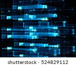 glass grid   abstract computer... | Shutterstock . vector #524829112