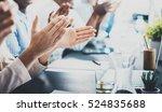 closeup photo of partners... | Shutterstock . vector #524835688