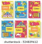 country turkey vector brochure... | Shutterstock .eps vector #524839612