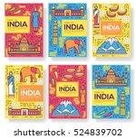india vector brochure cards... | Shutterstock .eps vector #524839702