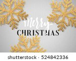 christmas background gray color ... | Shutterstock .eps vector #524842336
