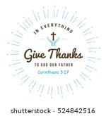 In Everything Give Thanks...