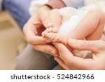 little infant newborn child in... | Shutterstock . vector #524842966