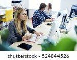 female international student... | Shutterstock . vector #524844526