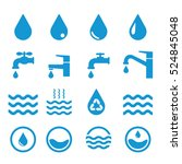 water related icons set on... | Shutterstock .eps vector #524845048