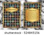 invitation card design template.... | Shutterstock .eps vector #524845156
