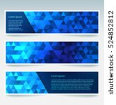 set of banner templates with... | Shutterstock .eps vector #524852812