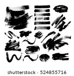 set of 20 black ink hand... | Shutterstock . vector #524855716