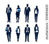 Business People Silhouette Set...