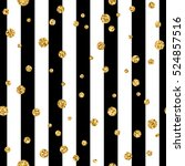 gold polka dot on lines... | Shutterstock .eps vector #524857516