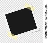 square frame template on sticky ... | Shutterstock .eps vector #524859886