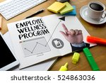 employee wellness program and... | Shutterstock . vector #524863036