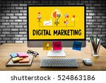 digital marketing  new startup... | Shutterstock . vector #524863186