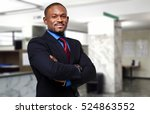 african businessman in his... | Shutterstock . vector #524863552