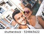 self portrait of gorgeous... | Shutterstock . vector #524865622