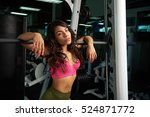 latina girl after workout in... | Shutterstock . vector #524871772