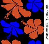 bright hawaiian design with... | Shutterstock .eps vector #524872486