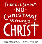 there is simply no christmas... | Shutterstock .eps vector #524874142