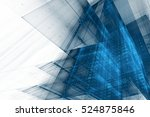 abstract business science or... | Shutterstock . vector #524875846