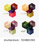 set of abstract option... | Shutterstock .eps vector #524881582
