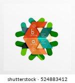 vector sale christmas banner... | Shutterstock .eps vector #524883412