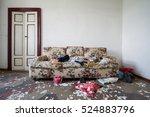 old building destroyed ... | Shutterstock . vector #524883796