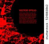 grunge style halloween... | Shutterstock .eps vector #524883862