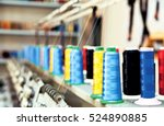 colored textile yarns with...   Shutterstock . vector #524890885