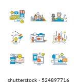 finance  teamwork  education... | Shutterstock .eps vector #524897716