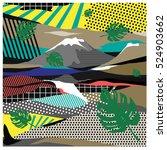 trendy vector cards... | Shutterstock .eps vector #524903662