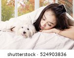 image of young woman sleeping... | Shutterstock . vector #524903836